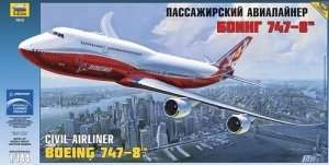 Civil Airliner Boeing 747-8 in scale 1-144