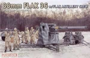 88mm Flak 36 w/Flak Artillery Crew in scale 1-35 Dragon 6260