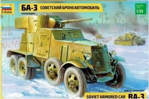 Soviet Armored Car BA-3 in scale 1-35