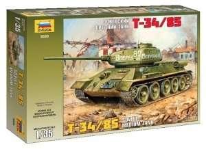 T-34/85 Soviet Tank in scale 1-35 Zvezda 3533