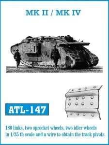 Metalowe gąsienice do czołgów Mk.II, Mk.IV, Mk.V