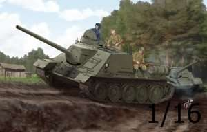 Soviet SU-100 Tank Destroyer in scale 1-16