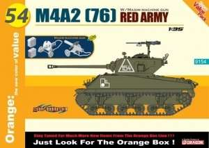 Dragon 9154 Tank Sherman M4A2 (76) Red Army - in scale 1-35