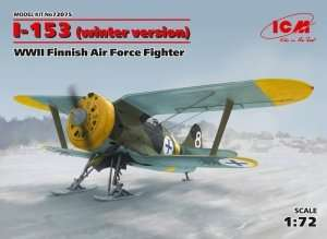 Fighter I-153 winter version in scale 1-72 ICM 72075