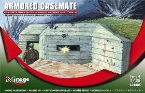 Concrete Bunker for a Single Machine Gun (Type 3) scale 1/35