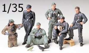 German Tank Crew At Rest in scale 1-35 Tamiya 35201