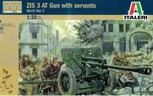 ZIS 3 AT Gun with servants in scale 1-32 Italeri 6880
