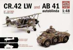 CR.42 LW and AB 41 autoblinda in scale 1-48
