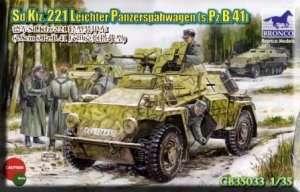 Bronco CB35033 Sd.Kfz. 221 Leichter Panzerspahwagen in scale 1-35