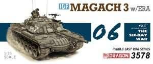 Dragon 3578 - model IDF Magach 3 w/ERA in scale 1-35