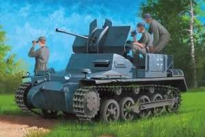 Flakpanzer IA w/Ammo. Trailer in scale 1-35 Hobby Boss 80147