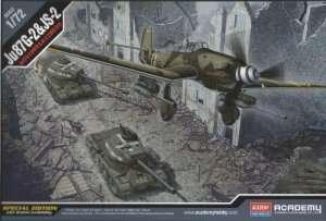 Bomber Ju87G-2 and tank JS2 - Academy 12539