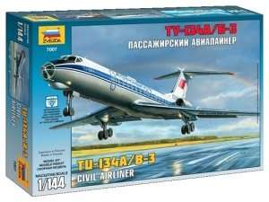 Model Zvezda 7007 Tupolev Tu-134B samolot pasażerski