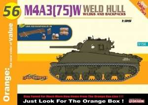 Tank Sherman M4A3(75)W Weld Hull in scale 1-35 w/bonus