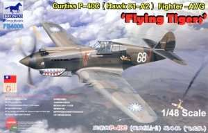 Bronco FB4006 Curtiss P-40C ( Hawk 81-42 ) fighter - in scale 1-48
