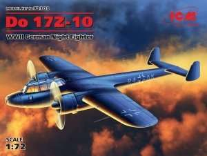 Dornier Do17 Z-10 in scale 1-72 ICM 72303