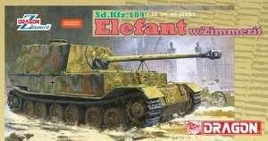 Model Sd.Kfz.184 Elefant w/Zimmerit in scale 1-35 Dragon 6465