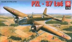 Poland bomber PZL.37 Łoś in scale 1-72