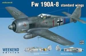 German WWII fighter Focke-Wulf Fw190 A-8 Eduard 7435