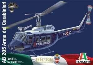 Helicopter AB 205 Arma dei Carabinieri in scale 1-48 Italeri 2739