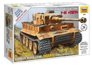 German Heavy Tank Tiger I in scale 1-72 Zvezda 5002