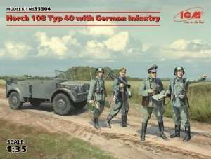Horch 108 Typ 40 with German Infantry in scale 1-35 ICM 35504