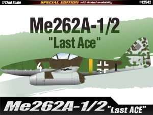 Academy 12542 Fighter Messerschmitt Me262A-1/2 in scale 1-72