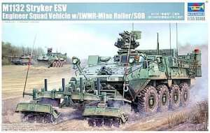 Trumpeter 01574 M1132 Stryker Engineer Squad Vehicle w/LWMR-Mine Roller/SOB