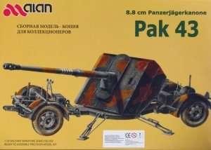 8,8 cm Panzerjagerkanone Pak 43 in scale 1-35