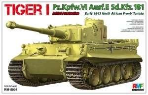 Tank Tiger I Pz.Kpfw VI Ausf. E Sd.Kfz.181 in scale 1-35