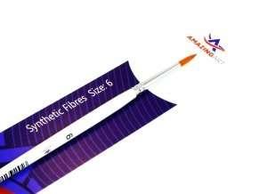 Round HF Brush Synthetic Fibres 6 - Amazing Art 13555