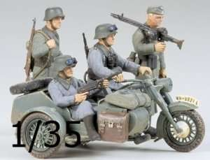 Model German BMW R75 Sidecar - Tamiya 35016