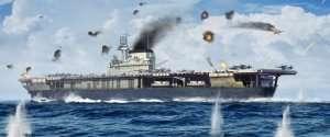 USS Yorktown CV-5 in scale 1-700