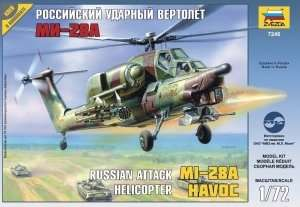 Helicopter MIL MI-28A in scale 1-72 Zvezda 7246