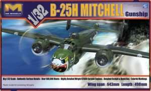 HK Models 01E03 B-25H Mitchell Gunship in scale 1-35