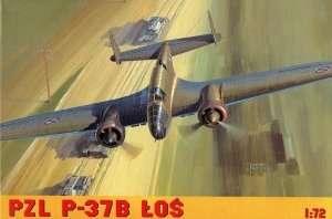 Poland Bomber PZL P-37B Łoś in scale 1-72