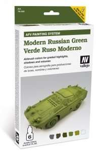 Vallejo 78408 Zestaw Model Air - Modern Russian Green 6x8ml