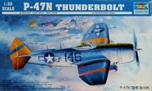 Model fighter P-47N Thunderbolt in scale 1-32
