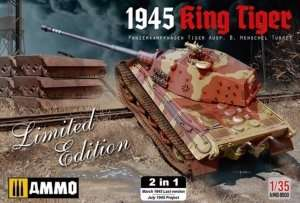 Model 1945 King Tiger 2 in 1 - scale 1-35 - A.MIG8500
