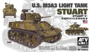 M3A3 Stuart Light Tank model AFV 35053 in 1-35