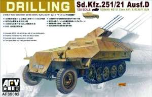 German Sd.Kfz.251/21 ausf.D Drilling model AFV 35082 in 1-35