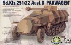 German Sd.Kfz.251/22 ausf.D Pakwagen model AFV 35083 in 1-35