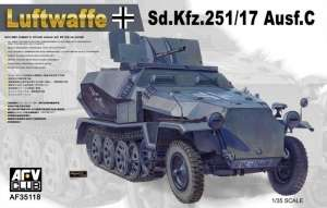 German Sd.Kfz.251/17 ausf.C model AFV 35118 in 1-35