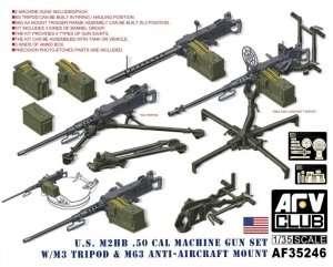 US M2HB .50cal Machine Gun set - in scale 1-35