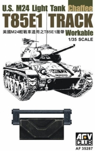 US M24 Light Tank Chaffee T85E1 Track Workable in 1-35