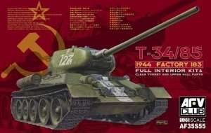 T-34/85 1944 Factory 183 Full Interior in scale 1-35