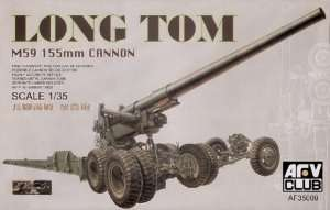Long Tom M59 155mm Cannon in scale 1-35