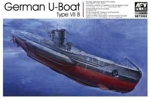 German U-Boat Type VII B in scale 1-350