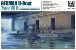 German U-Boat Type VII D Minenleger in scale 1-350