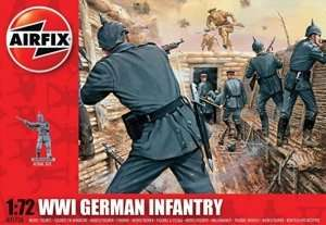 WWI German Infantry in scale 1-72 - Airfix A01726